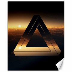 Triangle Penrose Clouds Sunset Canvas 16  x 20