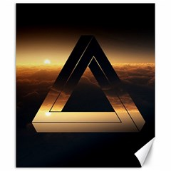Triangle Penrose Clouds Sunset Canvas 20  x 24