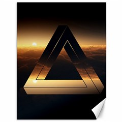 Triangle Penrose Clouds Sunset Canvas 36  x 48