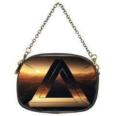 Triangle Penrose Clouds Sunset Chain Purses (Two Sides)