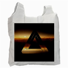 Triangle Penrose Clouds Sunset Recycle Bag (Two Side)