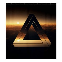 Triangle Penrose Clouds Sunset Shower Curtain 66  x 72  (Large)