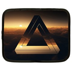 Triangle Penrose Clouds Sunset Netbook Case (XL)