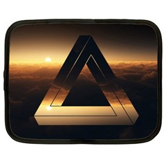 Triangle Penrose Clouds Sunset Netbook Case (XXL)