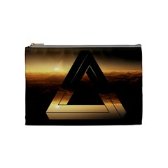 Triangle Penrose Clouds Sunset Cosmetic Bag (Medium)