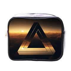 Triangle Penrose Clouds Sunset Mini Toiletries Bags