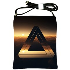 Triangle Penrose Clouds Sunset Shoulder Sling Bags