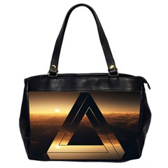 Triangle Penrose Clouds Sunset Office Handbags (2 Sides)