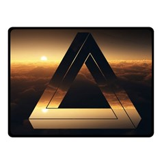 Triangle Penrose Clouds Sunset Fleece Blanket (Small)