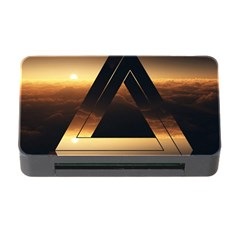 Triangle Penrose Clouds Sunset Memory Card Reader with CF