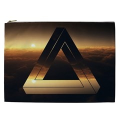 Triangle Penrose Clouds Sunset Cosmetic Bag (XXL)