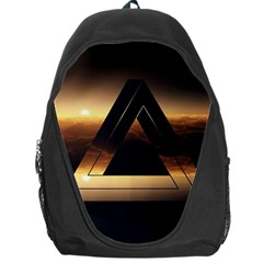 Triangle Penrose Clouds Sunset Backpack Bag