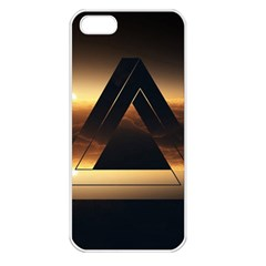 Triangle Penrose Clouds Sunset Apple iPhone 5 Seamless Case (White)