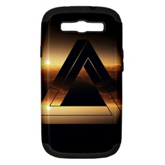 Triangle Penrose Clouds Sunset Samsung Galaxy S III Hardshell Case (PC+Silicone)