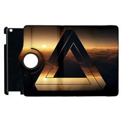 Triangle Penrose Clouds Sunset Apple iPad 3/4 Flip 360 Case