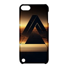 Triangle Penrose Clouds Sunset Apple iPod Touch 5 Hardshell Case with Stand