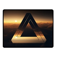 Triangle Penrose Clouds Sunset Double Sided Fleece Blanket (Small)