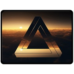Triangle Penrose Clouds Sunset Double Sided Fleece Blanket (Large)