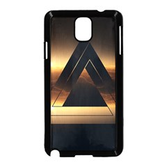 Triangle Penrose Clouds Sunset Samsung Galaxy Note 3 Neo Hardshell Case (Black)