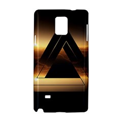 Triangle Penrose Clouds Sunset Samsung Galaxy Note 4 Hardshell Case