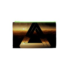 Triangle Penrose Clouds Sunset Cosmetic Bag (XS)