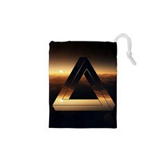 Triangle Penrose Clouds Sunset Drawstring Pouches (XS)