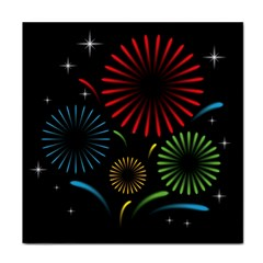 Fireworks With Star Vector Tile Coasters