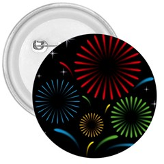 Fireworks With Star Vector 3  Buttons