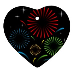 Fireworks With Star Vector Ornament (Heart)