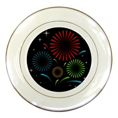 Fireworks With Star Vector Porcelain Plates