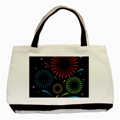 Fireworks With Star Vector Basic Tote Bag