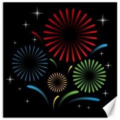 Fireworks With Star Vector Canvas 16  x 16