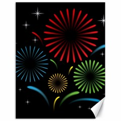 Fireworks With Star Vector Canvas 18  x 24
