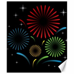 Fireworks With Star Vector Canvas 20  x 24