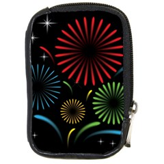 Fireworks With Star Vector Compact Camera Cases
