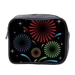 Fireworks With Star Vector Mini Toiletries Bag 2-Side