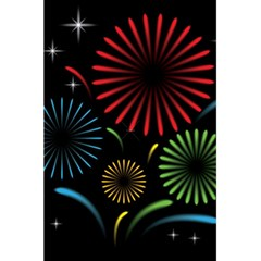 Fireworks With Star Vector 5.5  x 8.5  Notebooks