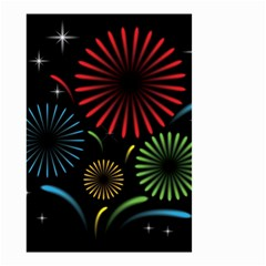 Fireworks With Star Vector Small Garden Flag (Two Sides)