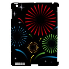 Fireworks With Star Vector Apple iPad 3/4 Hardshell Case (Compatible with Smart Cover)