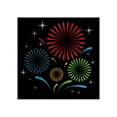 Fireworks With Star Vector Acrylic Tangram Puzzle (4  x 4 )