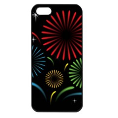 Fireworks With Star Vector Apple iPhone 5 Seamless Case (Black)