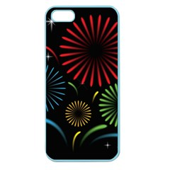 Fireworks With Star Vector Apple Seamless iPhone 5 Case (Color)