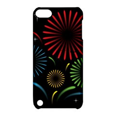 Fireworks With Star Vector Apple iPod Touch 5 Hardshell Case with Stand