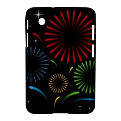 Fireworks With Star Vector Samsung Galaxy Tab 2 (7 ) P3100 Hardshell Case