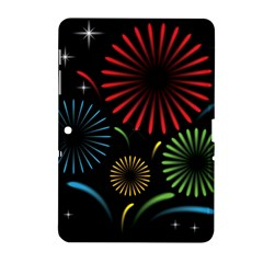 Fireworks With Star Vector Samsung Galaxy Tab 2 (10.1 ) P5100 Hardshell Case
