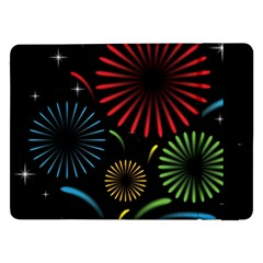 Fireworks With Star Vector Samsung Galaxy Tab Pro 12.2  Flip Case