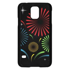 Fireworks With Star Vector Samsung Galaxy S5 Case (Black)