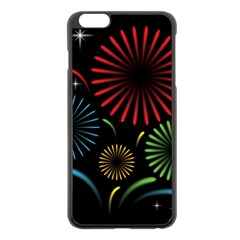 Fireworks With Star Vector Apple iPhone 6 Plus/6S Plus Black Enamel Case