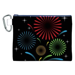 Fireworks With Star Vector Canvas Cosmetic Bag (XXL)