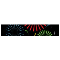 Fireworks With Star Vector Flano Scarf (Small)